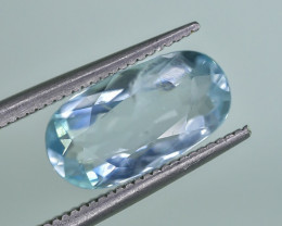 2.39 Crt Natural Aquamarine Faceted Gemstone.( AG 81)