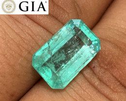 *NR* 6.73 ct GIA Colombian Emerald - Glowing Green