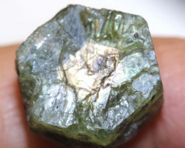 24 CTS  GOLD CENTRE AFRICAN  SAPPHIRE ROUGH CRYSTAL UNTREATED  RG-3952