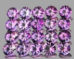 4.00 mm Round 20 pcs Pinkish Purple Amethyst [VVS]