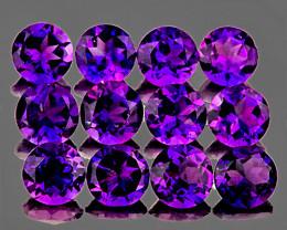 4.50 mm Round 12 pcs 3.95cts Purple Amethyst [VVS]