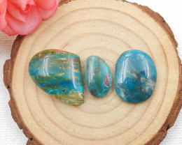 34cts Blue Opal Cabochons, October Birthstone, Blue Opal Beads D612