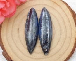 2pcs Blue Kyanite Cabochons,Healing Crystals,Protection Crystal D523