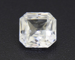 White Sapphire UNHEATED CERTIFIED 2.28ct good brilliance (00492)