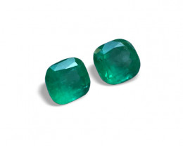 11,57ct  Wonderful Pair Colombian Emeralds Colombian Emerald Colombian Emer