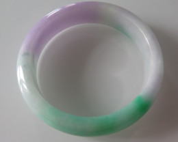 NEW ARRIVAL CERTIFIED GRADE A JADE/JADEITE BANGLE LAVENDER/GREEN 58mm