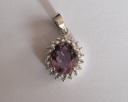 Amethyst 925 Sterling silver pendant #34299