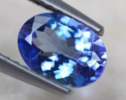 1.16ct Natural Violet Blue Tanzanite Oval Cut Lot V7251