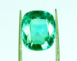1.35 ct Exceptional Top Of The Line Colombian Emerald Certified!