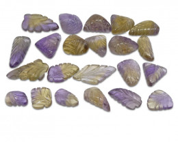 202.71ct Ametrine Leaf Carving Wholesale Lot