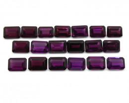 22.45ct Rhodolite Garnet Emerald Cut Wholesale Lot