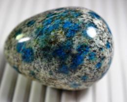642 CT Natural - Unheated  Blue K2nite Carved Egg