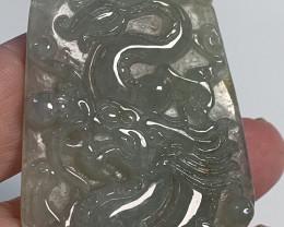 Dragon Jade Jadeite Carving (Untreated 'A' Grade) gem 112.50cts