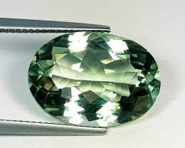 """11.35 ct """" Top Quality Gem """" Oval Natural Green Amethyst"""