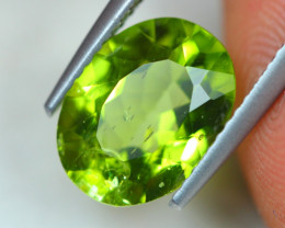 3.15Ct Natural Green Peridot Oval Cut Lot LZB518