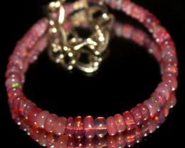 15 Crts Natural Welo Smoked Opal Beads Bracelet