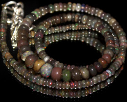 42 Crts Natural Ethiopian Welo Smoked Opal Beads Necklace 11