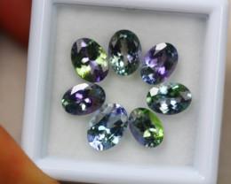 5.96ct Greenish Violet Blue Tanzanite Oval Cut Lot GW4357