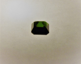 Tourmaline Apple Green Octagon Cut Gemstone