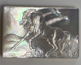 Mother of Pearl Horse Carved Cameo Shell