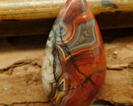 Crazy rosetta agate cabochon bead (G0974)