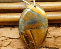 Natural iron tiger eye pendant bead (G0921)
