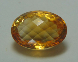 FLAWLESS SPARKLING NATURAL GOLDEN CITRINE 13.40cts