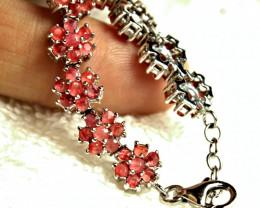 97.9 Tcw. Pink Tourmaline, Silver, Gold Plated Bracelet - Gorgeous