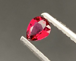 ''No Reserve' Natural Rubellite Tourmaline Top Red color 0.30 Carats