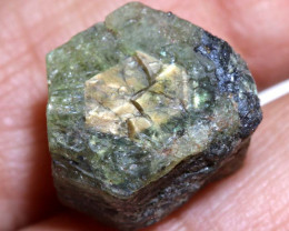 23.15CTS  GOLD CENTRE AFRICAN  SAPPHIRE ROUGH CRYSTAL UNTREATED  RG-3958