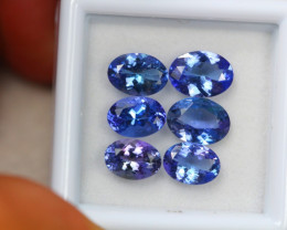 5.47ct Violet Blue Tanzanite Oval Cut Lot D152