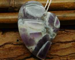 Natural gemstone amethyst heart shape pendant (G0929)