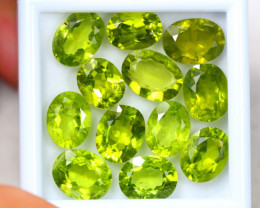 37.60ct Green Peridot Oval Cut Lot D160