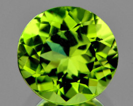 6.00 mm Round 0.92ct Green Peridot [VVS]