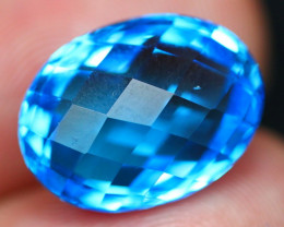 Swiss Topaz 13.15Ct Master Cut Vivid Swiss Blue Topaz B2201