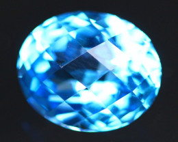 Swiss Topaz 5.98Ct Master Cut Vivid Swiss Blue Topaz B2203