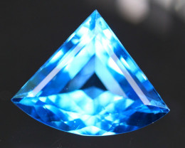 Swiss Topaz 12.21Ct Master Cut Vivid Swiss Blue Topaz B2204