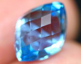 Swiss Topaz 8.82Ct Master Cut Vivid Swiss Blue Topaz B2206