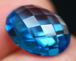 Master Cut 13.21Ct Vivid Swiss Blue Topaz B2211