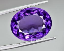 12.36 Crt Natural Amethyst Faceted Gemstone.( AG 83)