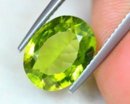 3.87ct Green Peridot Oval Cut Lot GW4374