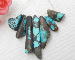 118cts Natural Turquoise Necklace ,Handmade Gemston,Lucky Stone D649