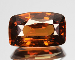 2.28 Cts Fabulous Natural Imperial Brown Zircon Cushion Tanzania