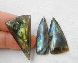 3pcs 66.5ct Labradorite Cabochons, healing Stone ,wholesale Jewelry D626