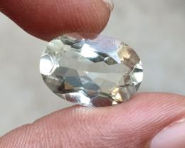 GREEN AMETHYST CHECKERED CUT Natural Gemstone VA1356