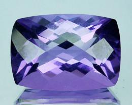 5.20 Cts Natural Purple Amethyst Cushion Checkerboard Cut Bolivia
