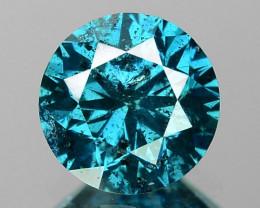 DIAMOND 0.64 Cts SPARKLING RARE FANCY BLUE COLOR NATURAL