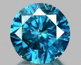 1.00 Cts SPARKLING RARE FANCY BLUE COLOR NATURAL DIAMOND