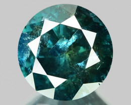 1.52 Cts SPARKLING RARE FANCY GREENISH BLUE COLOR NATURAL DIAMOND