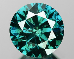 1.06 Cts SPARKLING RARE FANCY GTEENISH BLUE COLOR NATURAL DIAMOND